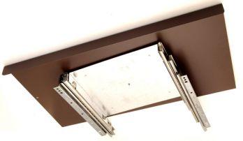 TV uitschuifplateau enkel bruin 650mm zs