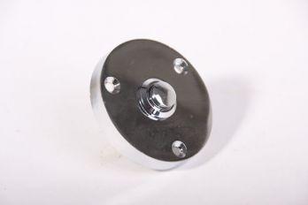 Deurbel-beldrukker blinkend chroom 57mm rond