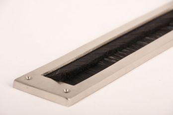Tochtwering geborsteld nikkel met zwarte borstel