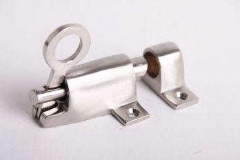 Raamknip voor valraam geborsteld nikkel 67mm