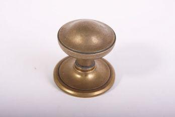 Deurknop voordeur brons antiek, roest of zwart rond 73mm.