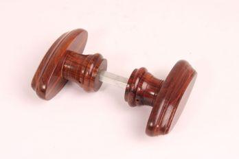 Deurkrukken (paar) Rozenhout 92mm