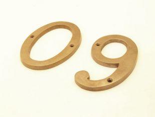 Huisnummer brons antiek cijfer 0-9 100mm
