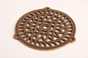 Rooster voor lucht en ventilatie brons antiek rond 130mm