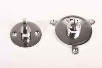 WC sluiting vrij bezet Kramer - ronde rozet blinkend chroom