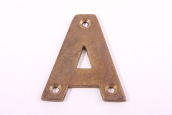 Huis letter brons antiek alphabet A-Z 50mm