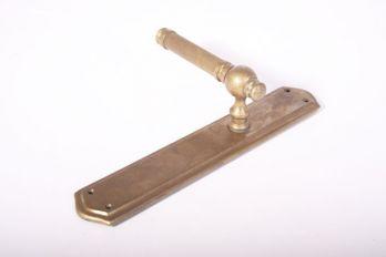 Klassieke deurkruk met deurplaten brons antiek 275mm