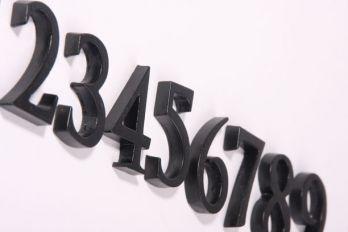 Huisnummer roest of zwart cijfer 0-9 40mm zs