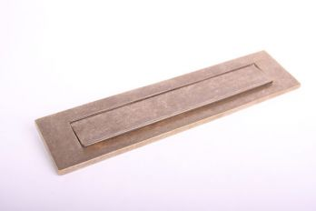 Brievenbus briefplaat brons antiek 328mm
