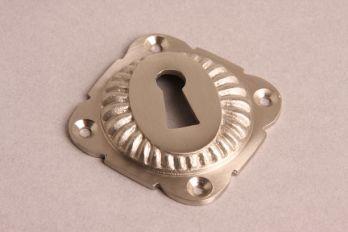 Sleutelrozet geribbeld 65mm geborsteld nikkel