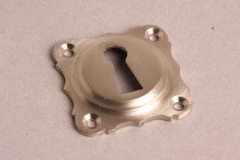 Sleutelrozet 43 mm met sleutelgat geborsteld nikkel.