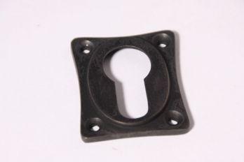 Rozet 38 mm voor cilinderslot ton-model Donker brons antiek