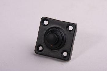 Beldrukker zwart voor de voordeur vierkant 38mm