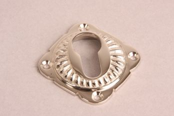 Cilinderrozet geribbeld 65mm blinkend nikkel