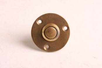 Deurbel-beldrukker brons antiek 40mm Chemin de Fer