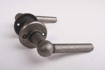Spoorwegkruk zilver antiek met rozetten deurkruk Chemin de fer