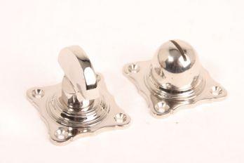 WC sluiting blinkend nikkel half ronde knop
