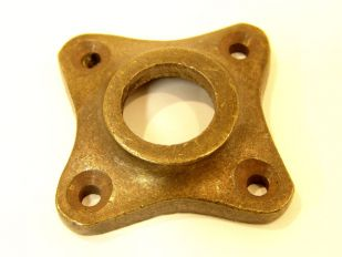 Rozet brons antiek 37mm.