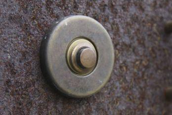 Deurbel-beldrukker rond brons antiek 49mm