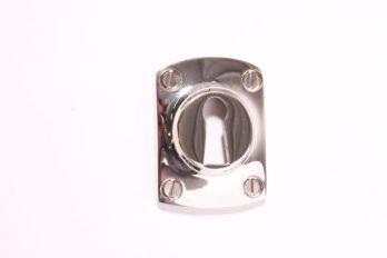 Rozet 37 mm met sleutelgat Blinkend nikkel