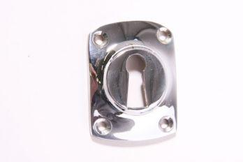 Rozet 37 mm met sleutelgat blinkend chroom
