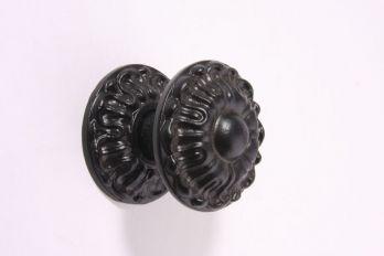 Deurknop zwart poedercoating 71mm