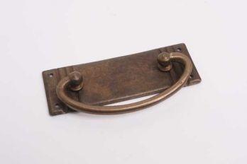 Ladegreep voor klassieke meubelen brons antiek 95 mm