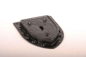 Sleutelplaat zwart, roest of tinkleur 155mm met bolkopschroeven