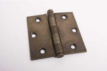 Scharnier voor binnendeur brons antiek 76mm met platte kop