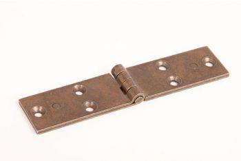 Zwaar scharnier antiek brons dubbel gerold ijzer 152mm x 32mm