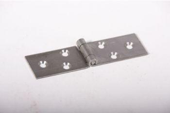 Scharnier ijzer blank onafgewerkt voor op het hout 80mm x 22mm