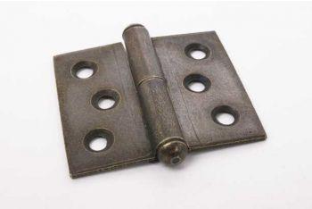 Paumelle scharniertje brons antiek gemaakt van ijzer 40mm x 45mm rechts