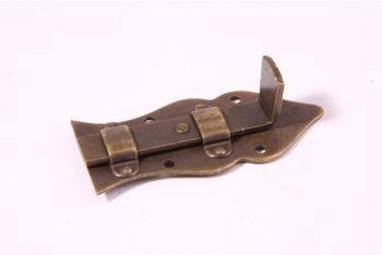 Schuifje Brons Antiek 80mm recht