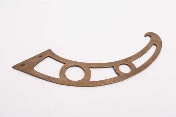 Klassieke klepbocht voor secretaire 260mm brons antiek massief messing links of rechts