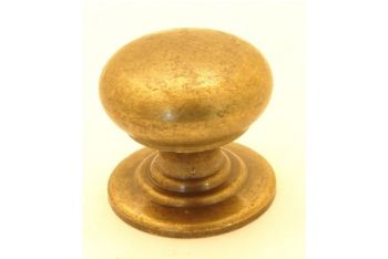 Meubelknop met grote voet brons antiek 30mm