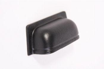 Greep zwart 90mm - stoere komgreep 32mm