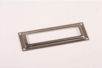 Etikettenhouder nikkel 24x61mm