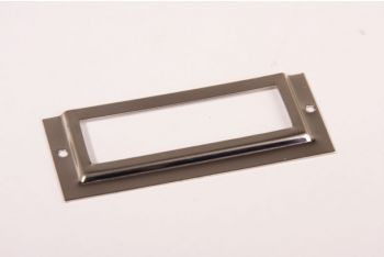 Etikettenhouder nikkel 29x67mm