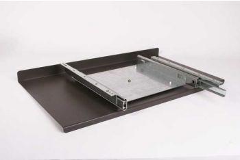 Uitschuif systeem draaibaar grijs-bruin/lavabruin 650mm zs