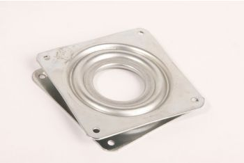 Draaiplateau 80x80mm 360 graden wit verzinkt 1,4 kg zs
