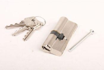Profiel-Cilinderslot 30/45 SKG** nikkel met 3 sleutels