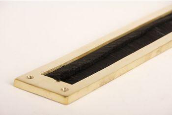Tochtwering messing polijst met zwarte borstel 350mm