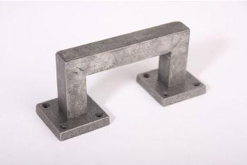 Deurgreep robuust vierkant antiek grijs 130mm