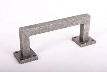 Deurgreep robuust vierkant antiek grijs 205mm