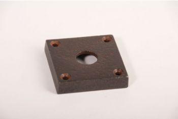 Rozet roest vierkant 50mm voor kruk of wc-sluiting 15mm gat
