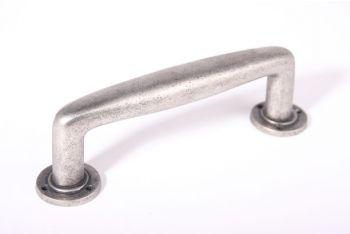 Deurgreep Dudok zilver antiek 200mm