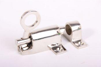 Raamknip voor valraam blinkend nikkel 67mm