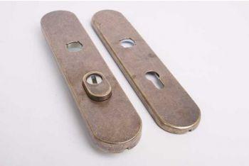 Langschild deurplaat met kerntrek brons antiek 72mm voor buitendeuren SKG***.