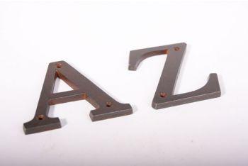 Huisnummer roest letter A-Z , &, @ en - 100mm