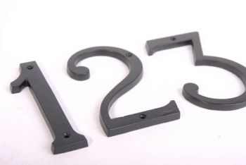 Huisnummer GROOT - zwart cijfer 0-9 140mm